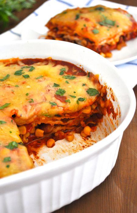 Healthy Mexican Lasagna / Lasagne - Site