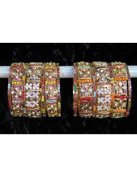 Flattering Party Wear Bangles Item code : BNG810  http://www.bharatplaza.com/ready-to-ship/jewellery/flattering-party-wear-bangles-bng810.html https://www.facebook.com/bharatplazaportal https://twitter.com/bharat_plaza