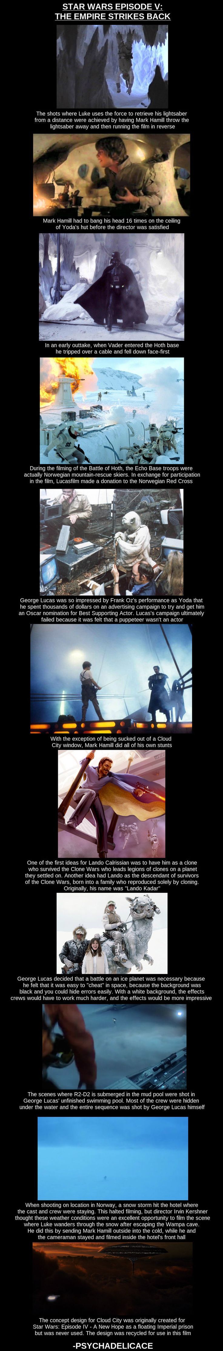 The Empire Strikes Back- behind the scenes facts and stories