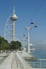 The cable car and the Tagus Tower. Enter the cable car and experience the feeling of seeing lisbon and the natural beauties that surround this city
