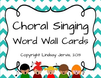 FREE FOR A LIMITED TIME! Word Wall {Choral Singing}