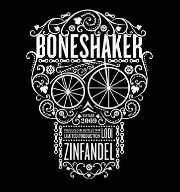 Boneshaker Zinfandel Wine Label from Cycles Gladiator