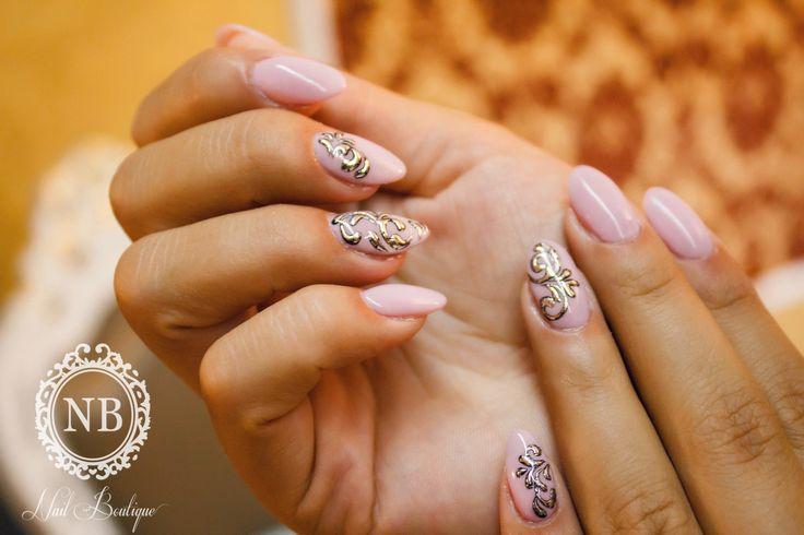 Pink @Nail Boutique nails