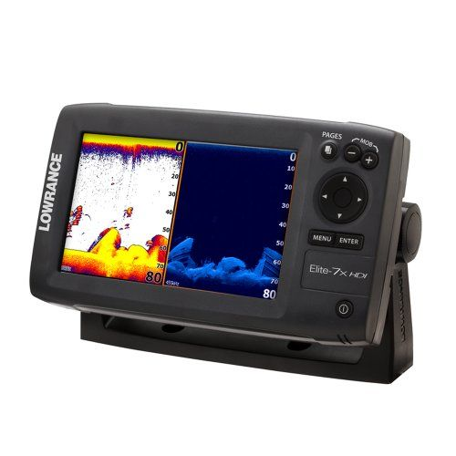 Lowrance 000-10961-001 Elite-7X Fishfinder with 83/200-455/800 KHz Transom Mount Transducer at http://suliaszone.com/lowrance-000-10961-001-elite-7x-fishfinder-with-83200-455800-khz-transom-mount-transducer/