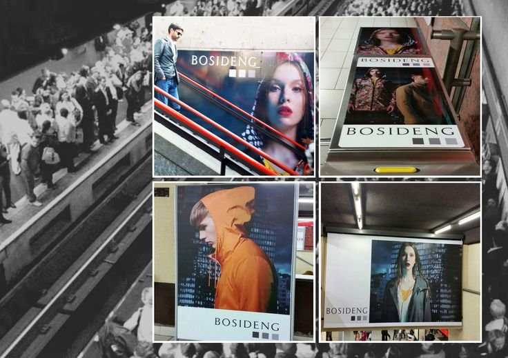 #CustomizedMilano - here we are! #BosidengItaly on air #adv at Milano Rogoreto subway station!