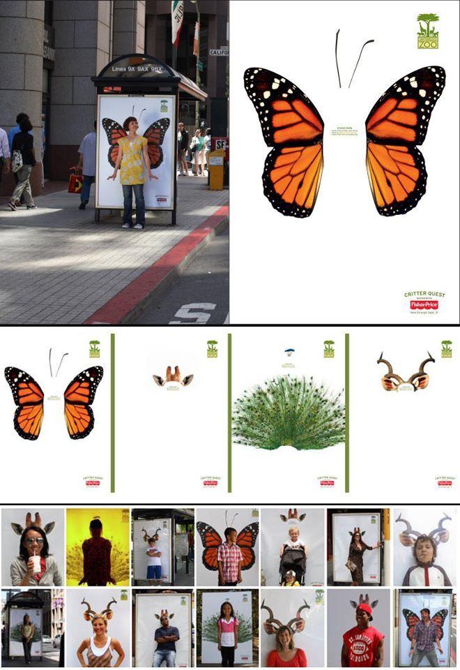 Lo interactivo no tiene siempre que ser digital. Con estas marquesinas se promociono el Zoo de San Francisco convirtiendo en animales a todos los habitantes de la ciudad. (Vía) WE LOVE ADVERTISING
