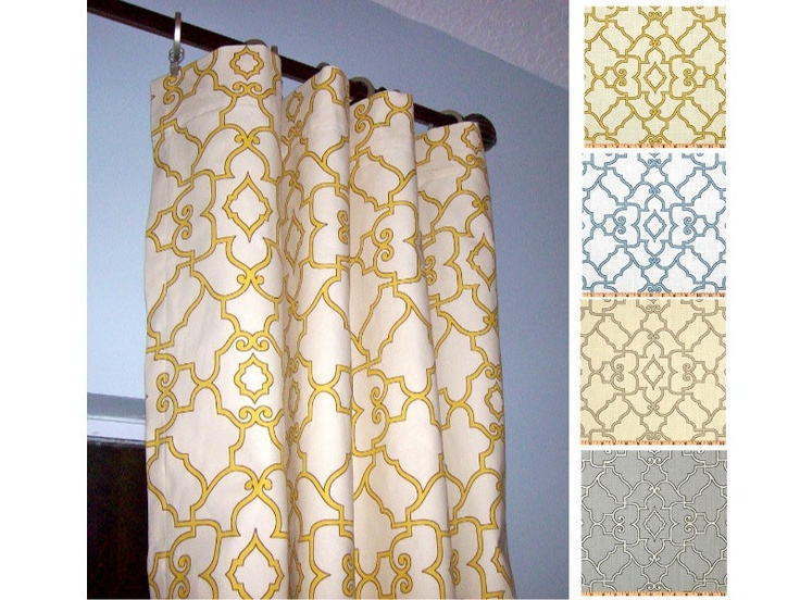Windsor Curtain Panels via Etsy.  Make my own for living room?