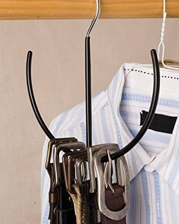 Use a belt hanger to hang all your tank tops…   21 Ways To Transform Your Closet Into Your Favorite Place
