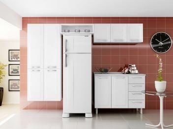 Cozinha Compacta Itatiaia Anita com Balcão - 9 Portas 4 Gavetas