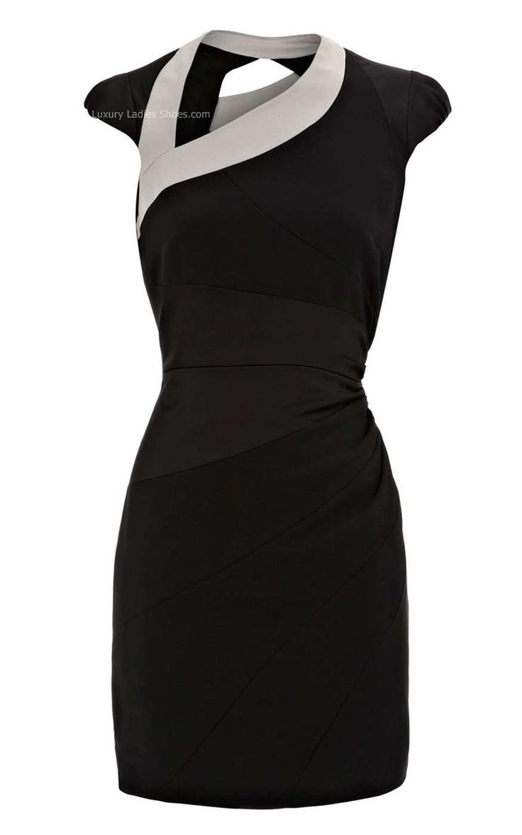 Black And White Dress Shoes   karen millen asymmetric body con dress black body con structured dress ...