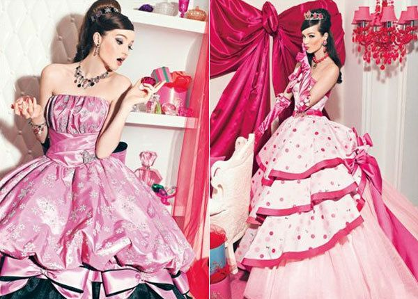 Розовые свадебные платья в стиле Барби