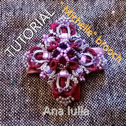 Michelle brooch Tatting  PATTERN/TUTORIAL by AnaIuliaTattingLace on Etsy