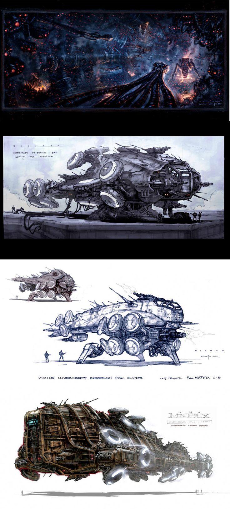 Concept Arts dos filmes Matrix Revolutions e Reloaded | THECAB - The Concept Art Blog