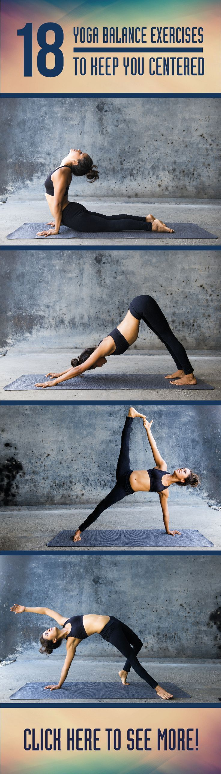 Check out these 18 yoga balance exercises to help you stay centered in and out of your practice.