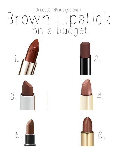 What Are Some True Brown Lipsticks That Are Less The Price