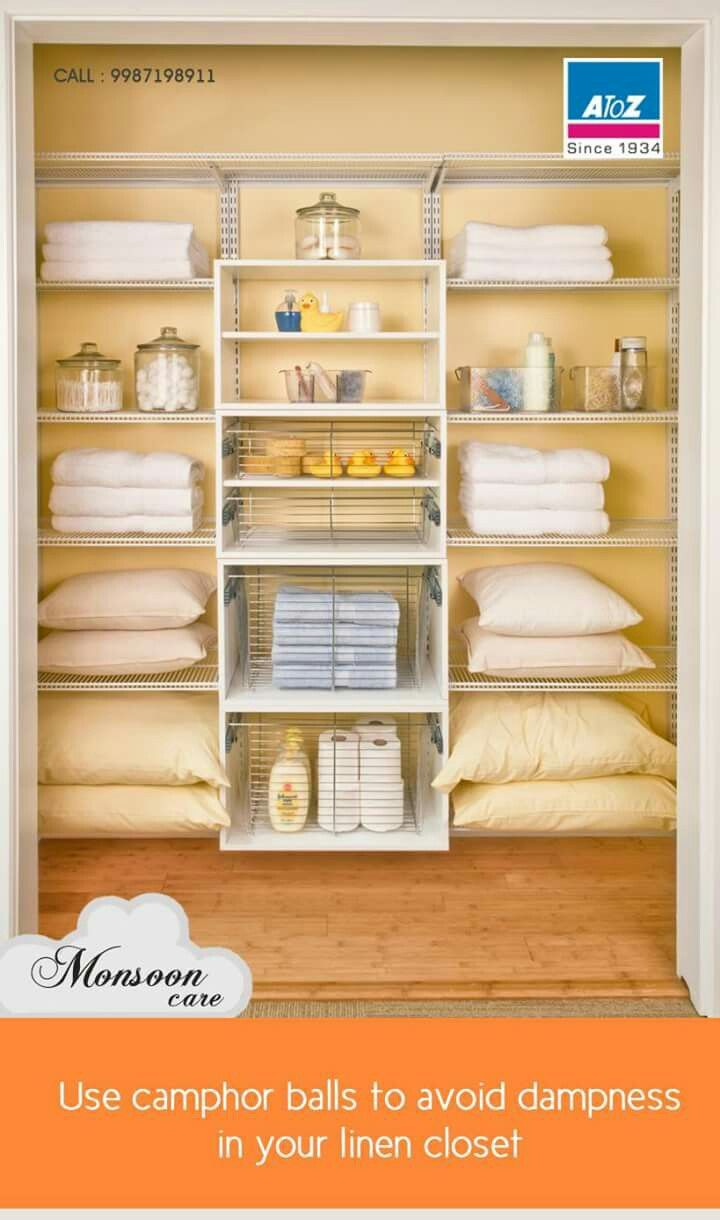 Camphor balls or neem leaves are a great way to avoid bacterial growth and dampness from forming in cupboards or shelves. bit.ly/atozhome  #atoz #homefurnishing #monsooncare