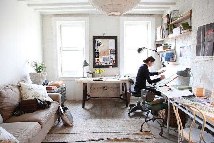 Miranda Brooks' Studio, Photographed by Heather Clawson via Kate Lyden
