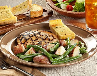 Roasted potatoes, Grilled chicken and Green beans on Pinterest