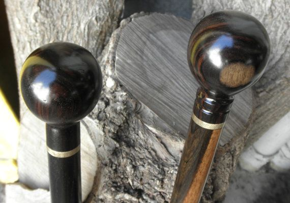 2 Ebony Ball Cane Walking Stick Handles With Threaded Rod Etsy In 2020 Walking Sticks Cane Handles Threaded Rods