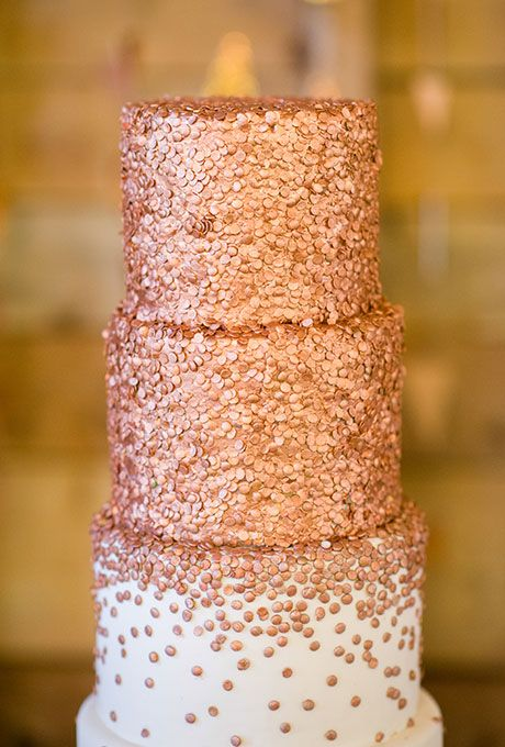 Brides.com: 21 Wedding Cakes Covered with Sprinkles Blogger Sally McKenney Quinn of Sally's Baking Addiction enlisted the wedding cake expertise of Bredenbeck's Bakery in Philadelphia to create this four-tiered sprinkled confection for her big day.Photo: Megan Beth