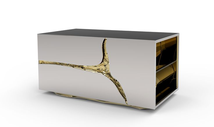 Inspired in the dissolution of soluble rocks such as limestone, dolomite and gypsum, the Lapiaz   Nightstand, is characterized by the idea of an underground effluence   http://masterbedroomideas.eu