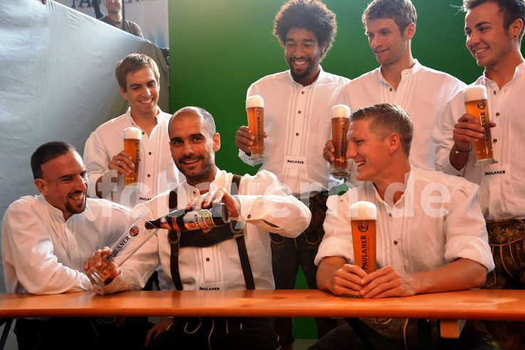 "Prost! ____ More pictures of the ""Lederhosen"" photo shoot on http://instagram.com/fcbayern & http://www.myFCB.de/"