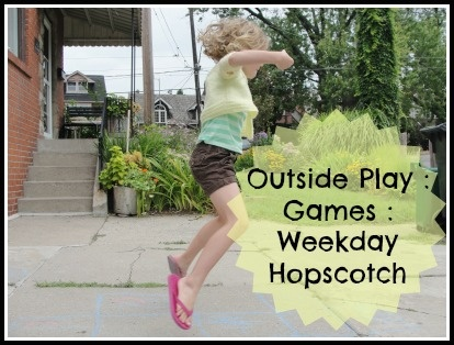 Great outside game - Weekday Hopscotch...part of the Outside Play - Games linky