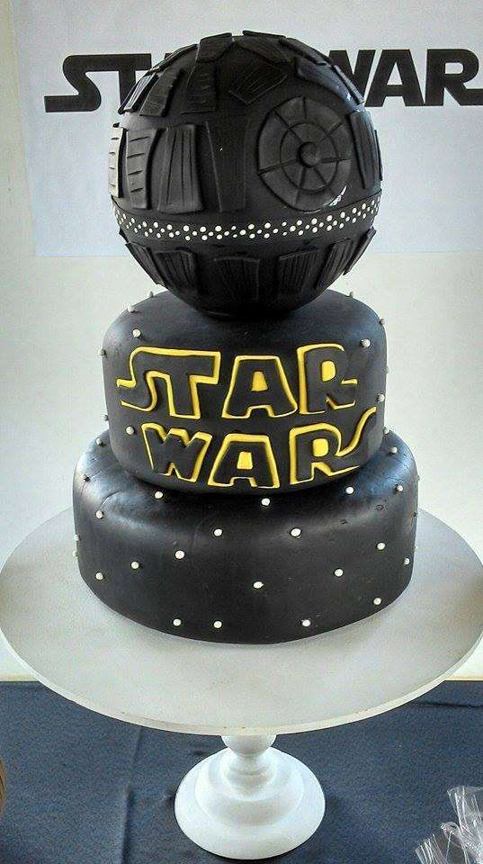 Awesome Lego Star Wars Birthday Party cake! See more party planning ideas at CatchMyParty.com!