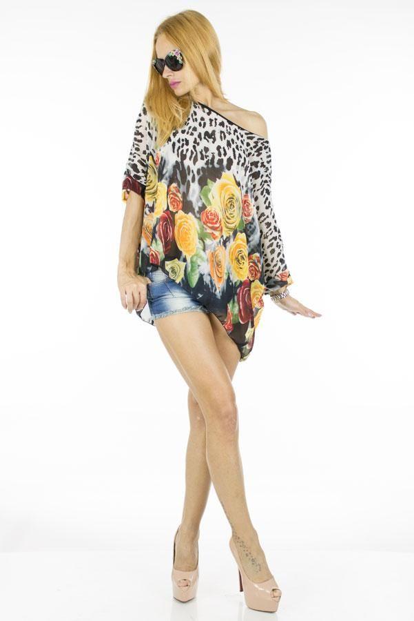 Bluza Dama Print  Bluza dama cu imprimeu interesant, ce poate fi purtata la diferite evenimente, fiind usor de accesorizat.     Compozitie:100%Poliester
