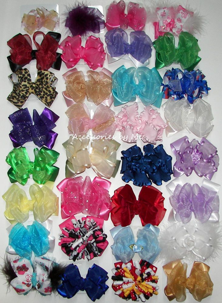 32 Bundle Lot of Hair Bows Baby Girls Toddler Pageant Boutique Pageant Resale  #AccessoriesbyMe
