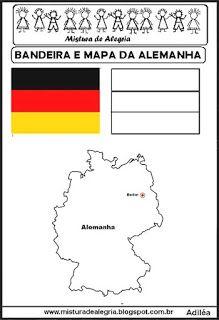 b690aba089596 Bandeira e mapa da Alemanha