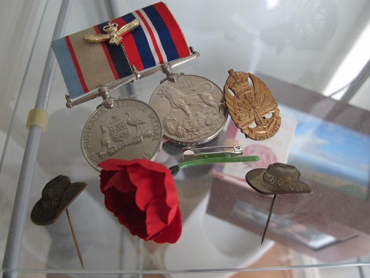 Dad's war service medals. Airforce.