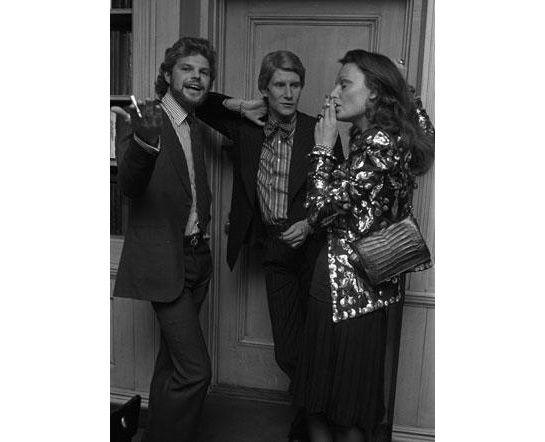 1972 - Yves Saint Laurent with Diane von Furstenberg & Egon von Furstenberg by Morgan fairchild 4 W