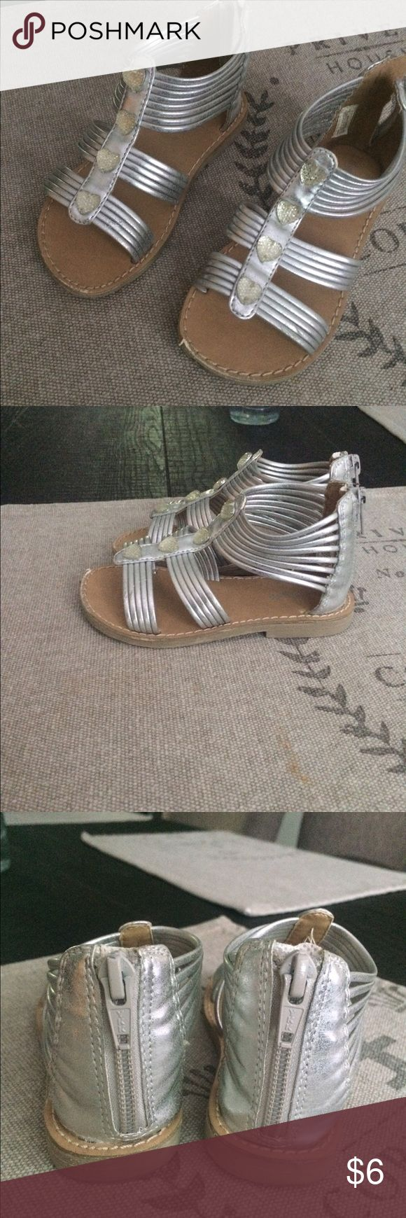 Black sandals at dsw - Silver Heart Sandals Super Cute Sandals With Minimal Wear Top Hearty Is Slightly Loose On