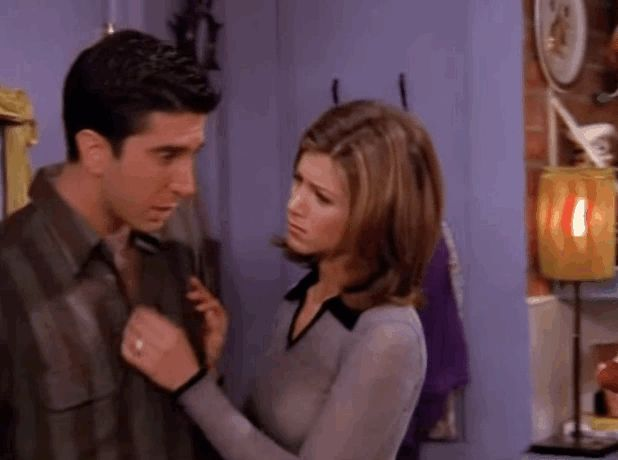 """When Rachel kissed Ross after watching the prom video. 
