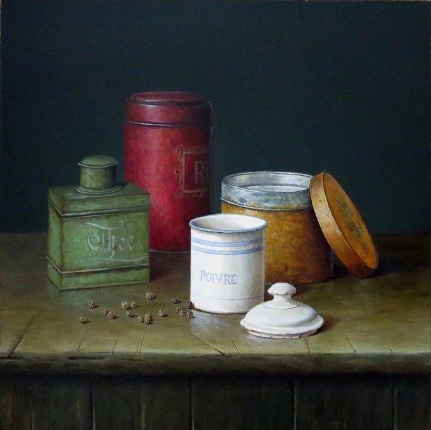 Ian Mastin, Arrangement with Toleware, Acrylics | Contemporary Scottish Art