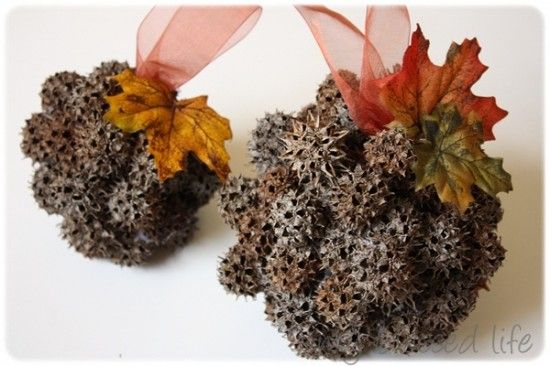 Sweet gum decorative balls... Because I have a ton of these...
