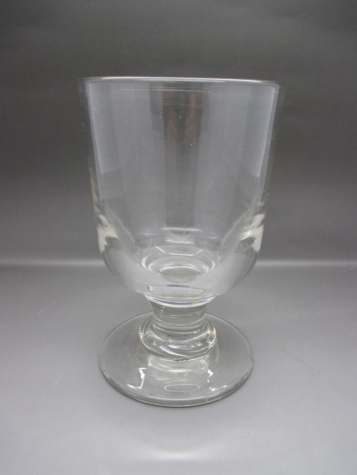 Heavy antique georgian tavern rummer glass with short stem glasses pinterest georgian - Wine glasses with thick stems ...