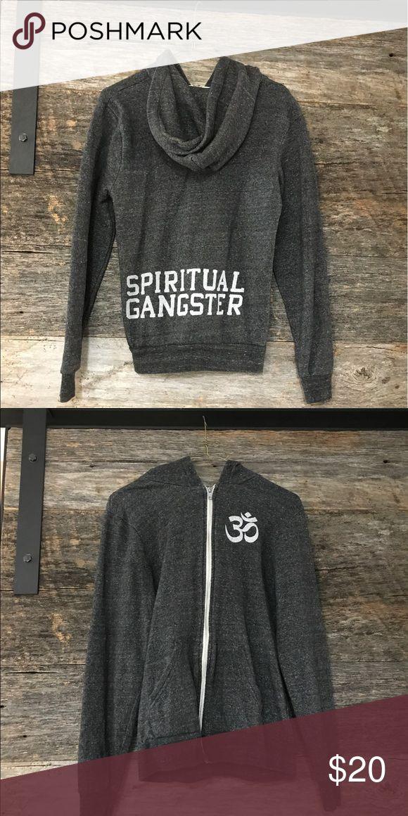 Spiritual gangster zip up Grey zip up hoodie brand spiritual gangster Spiritual Gangster Jackets & Coats