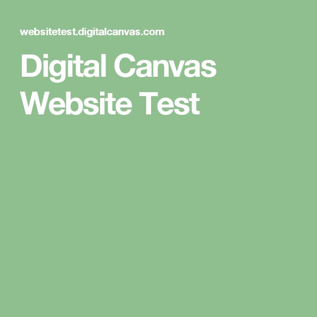 Digital Canvas Website Test
