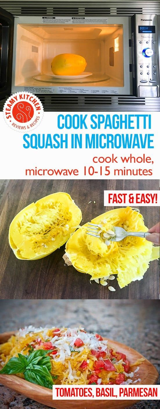 Cook Spaghetti Squash Whole In The Microwave Pierce A Few Times With Paring Knife