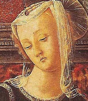 Giorgio Schiavone, Madonna col Bambino, Sesto decennio del XV secolo, particolare. Torino, Pinacoteca SabaudaSerena Franzon – OADI – Rivista dell'Osservatorio per le Arti Decorative in Italia