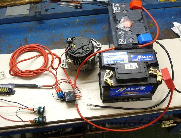 Instalación batería auxiliar con dos relés separadores para consumos en furgo camper
