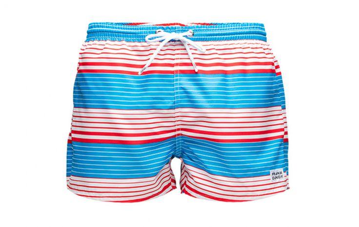 Sail Sunset Stripe Swimshorts - Ljusblå