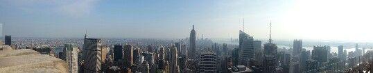 New York city skyline #topoftherock #rockefeller #nyc #newyork #skyline