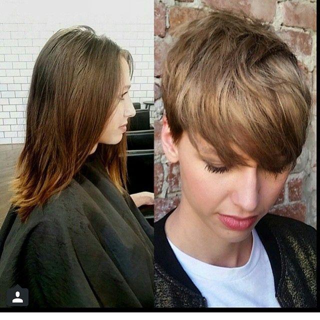 Kurze Haare Frau Vorher Nachher Modische Frisuren Für Sie Foto Blog