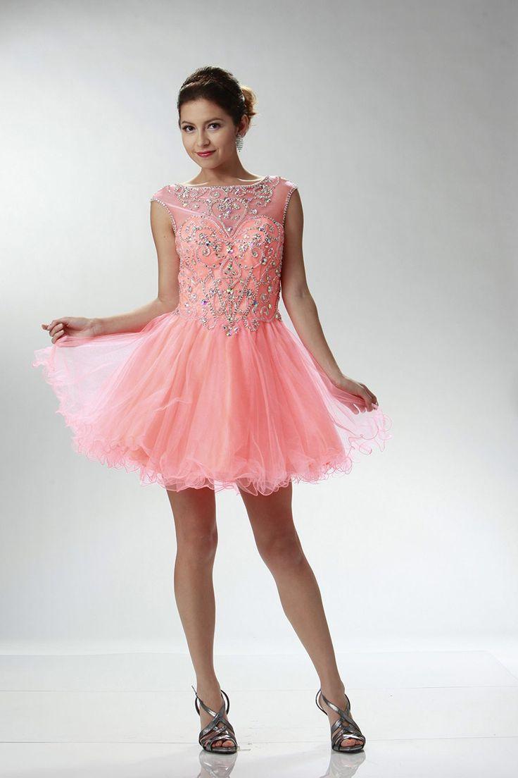 Magnífico Vestido Corto A Largo Prom Imágenes - Colección de ...