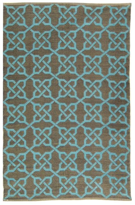 outdoor rug of recycled soda bottles by thom filicia for safavieh sold at carey burke