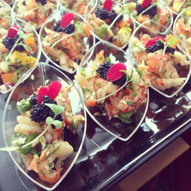Crayfish Cocktail Bites #helsinki #catering | Soupster Catering