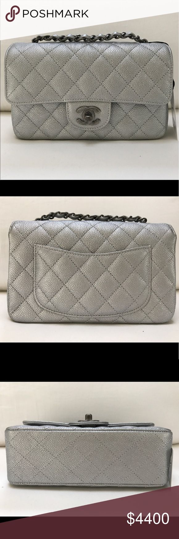 ✨BRAND NEW ✨💯AUTHENTIC CHANEL MINI FLAP CAVIAR BRAND NEW CHANEL MINI FLAP CAVIAR SLIVER COLOR WITH SLIVER RUTHENIUM HARDWARE. COME WITH ORIGINAL BOX, DUST BAG, AUTHENTICITY CARD AND BOOKLET ❌NO TRADE ✔️PRICE NEGOTIABLE ( MORE INFO BOONBTCHYNNGHTY@AOL.COM ) CHANEL Bags Crossbody Bags